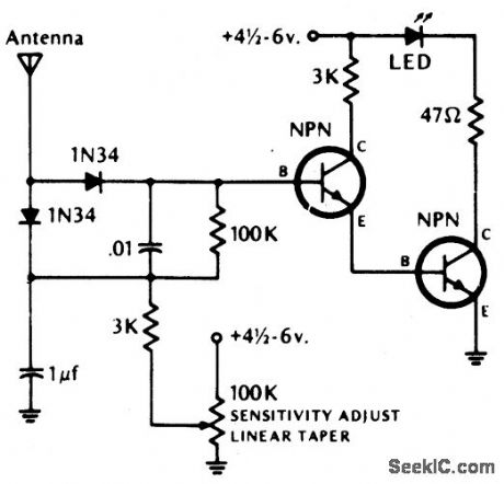 Pnp Transistor Circuits With Led in addition Acura Integra 1991 Engine Wiring in addition Ir Sensor furthermore Simple Road Ice Alarm Schematic Using further Audio Ics. on ir amplifier circuit