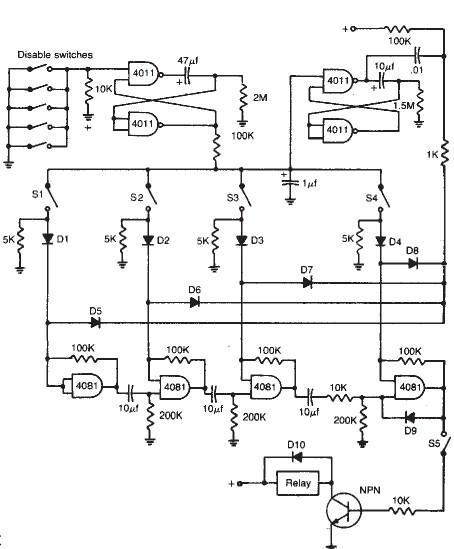 Circuito Eletronica : Fechadura com chave eletrônica